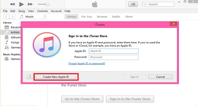 Create an Apple ID with the iTunes app