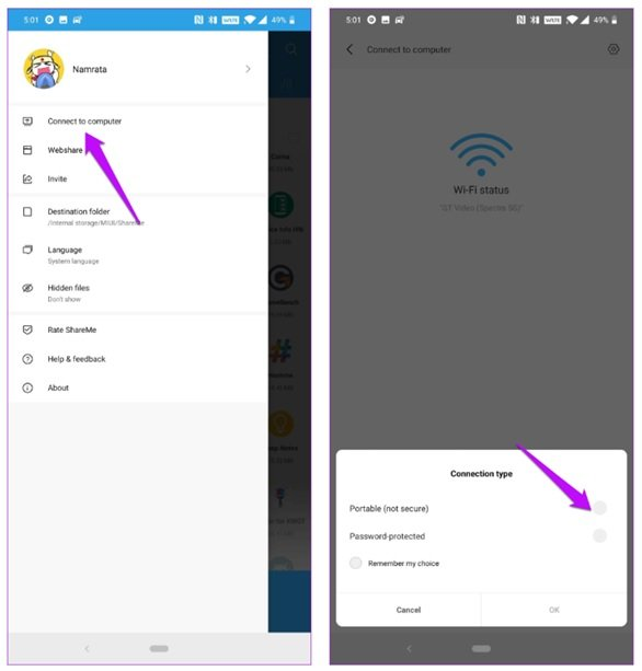 Learn how to transfer files between different devices with ShareMe software