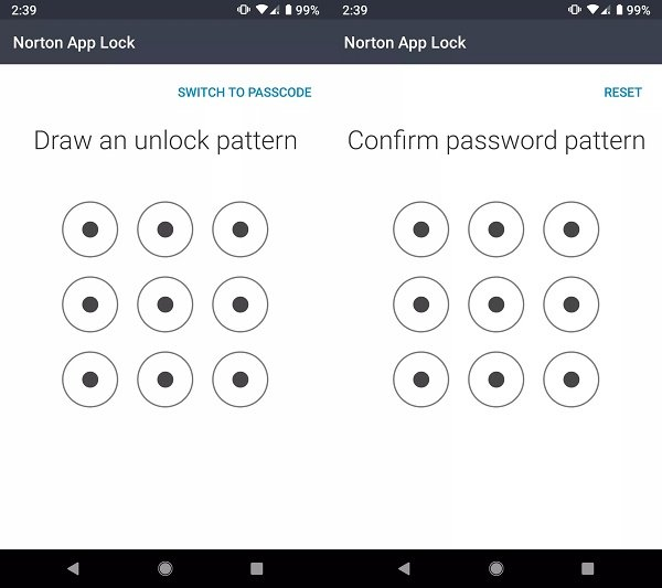 How to set a password for apps in Android using Norton App Lock