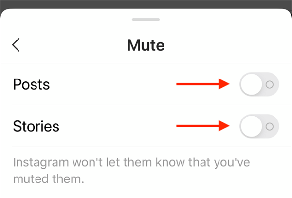 How to disable others on Instagram
