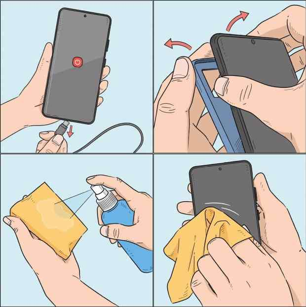 Cleaning the phone