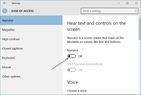How to make ease of access settings in Windows 10