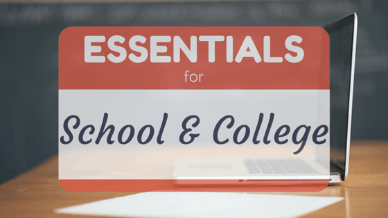 9 Essentials For Going Back To School & College