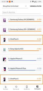 3DMark - Sling Shot Unlimited - OnePlus 6