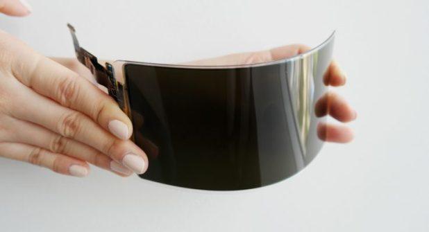 Novo desenvolvimento da Samsung – Ecrã flexível inquebrável - OLED