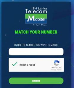 mobitel number selection