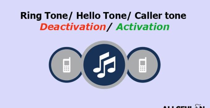 Ring tone, Caller tone Deactivation, Activation