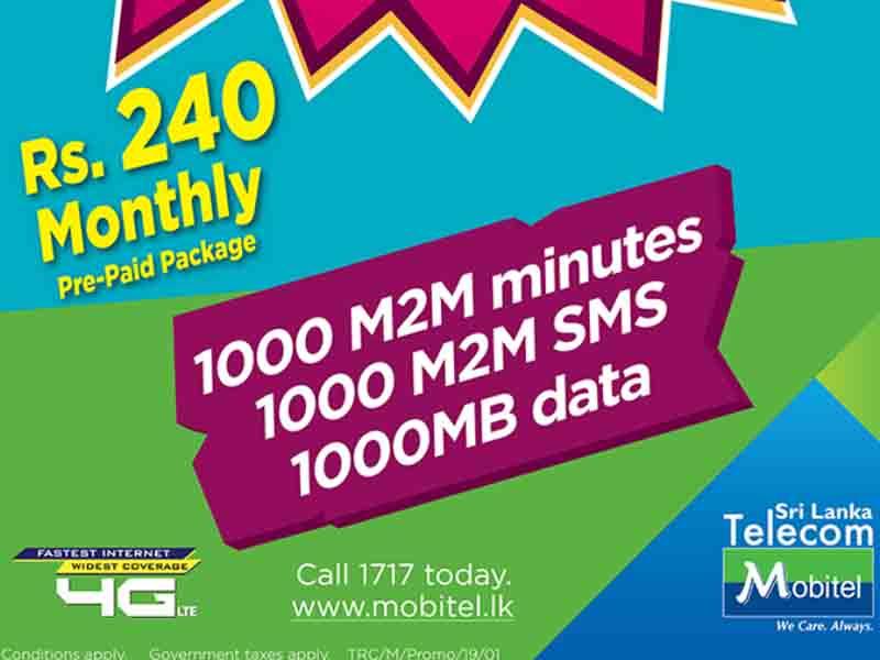 Mobitel prepaid max 1000 Minutes 1000SMS 1000 MB