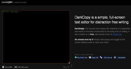 Dackcopy text pad screen shot
