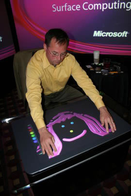Microsoft surface multitounch interface