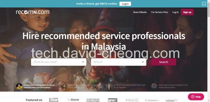 recom home page