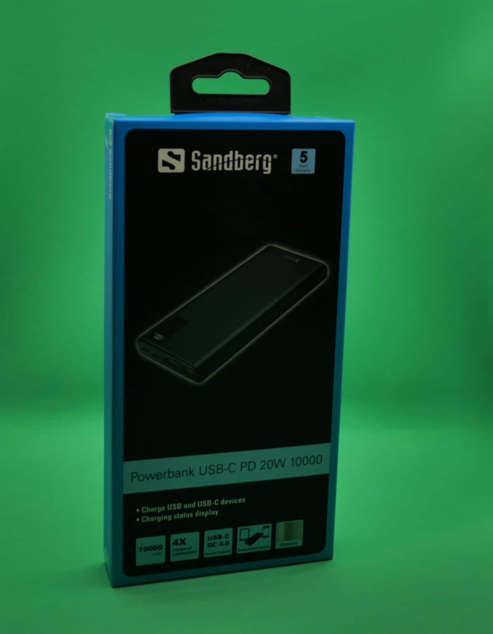 Powerbank Sandberg USB-C PD 20W 10000 pack