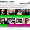 Website screen capture of the 2013 MSU Instructional Technology Awards