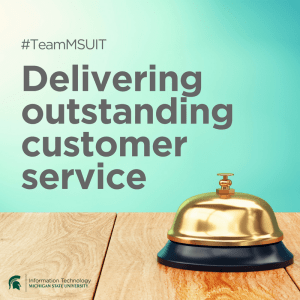 #TeamMSUIT Delivering outstanding customer service
