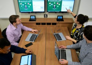 Students check out MSU's latest classroom technology.