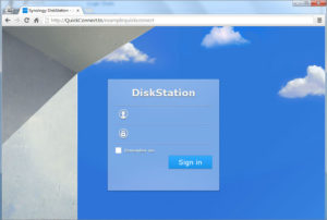 Synology Diskstation DSM Login window screenshot