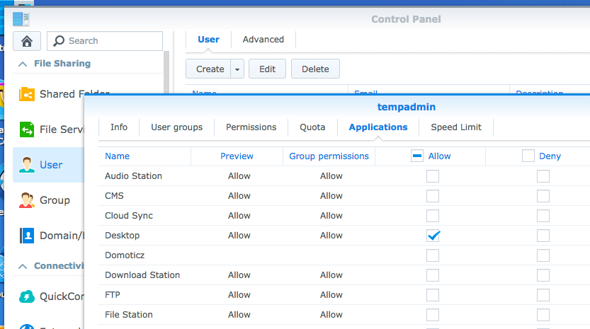 Block Users from accessing Synology DSM Desktop (and fix if you're