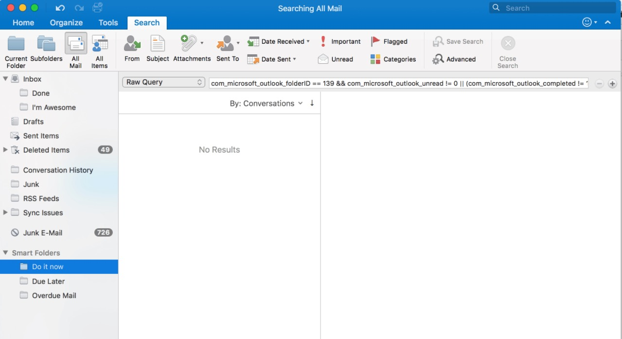 How to Aggregate Folders/E-mail with Smart Folders on