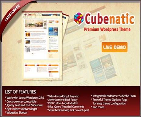 Cubenatic WordPress Theme