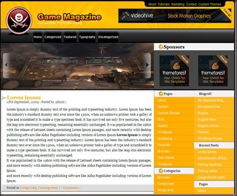Game Magazine WordPress Theme