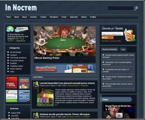 InNoctem WordPress Theme
