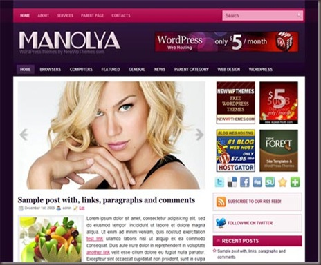 Manolya WordPress Theme