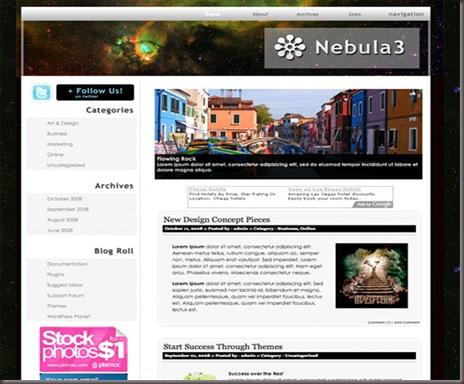 Nebula3 WordPress Theme