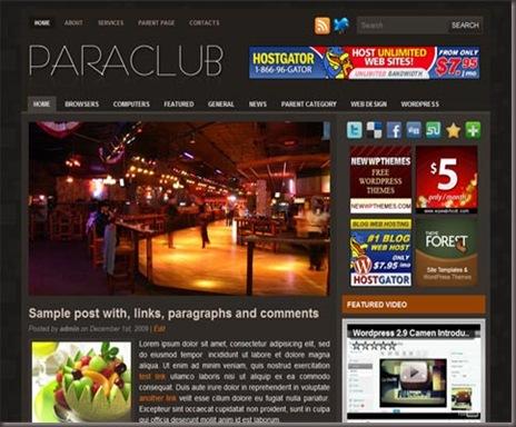 Paraclub WordPress Theme