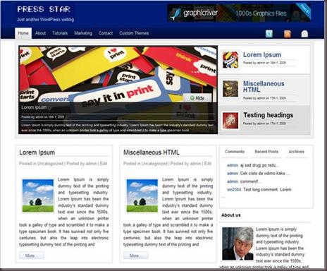 Press Star WordPress Theme