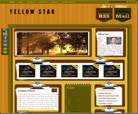 Yellowstar WordPress Theme