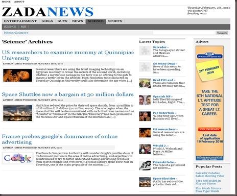 ZadaNews WordPress Theme