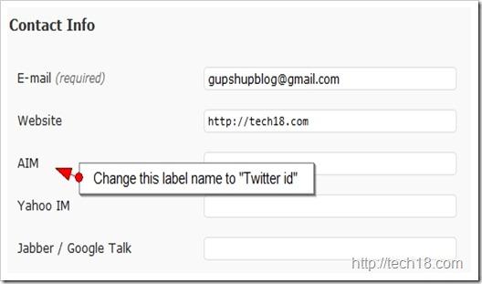 change label step 1