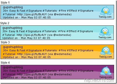 Twisig signature styles