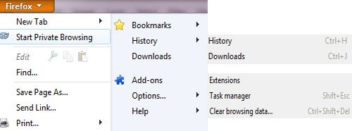 Firefox 4 beta 5 addons and downloads shortcuts