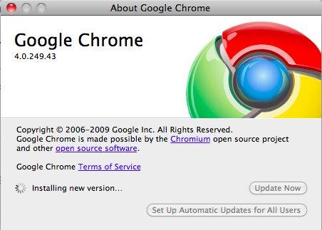 Google Chrome 4.0.249