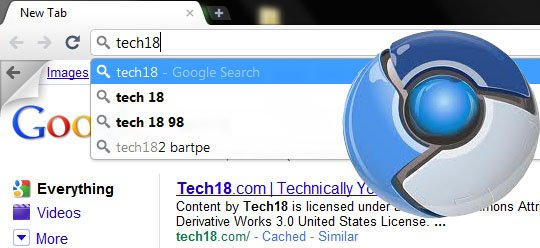 Google instant search in chrome