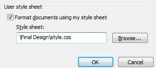 IE9 formatting using user css