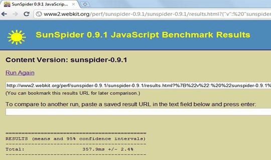 chrome 7 sunspider javascript benchmark