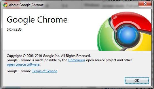 google chrome 6.0.472