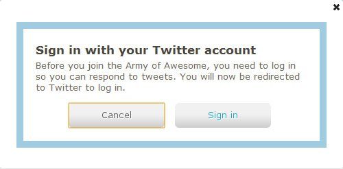 Firefox - Army of Awesome Sign in to Twitter