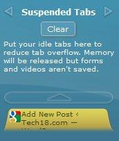 TooManyTabs Google Chrome Suspended Tabs