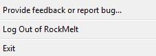 rockmelt browser logout option