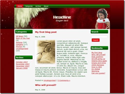 14_Christmas_Girl_WordPress_Theme