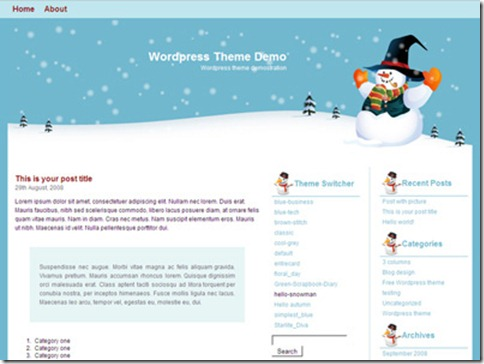 7_hello-snowman_WordPress_Theme