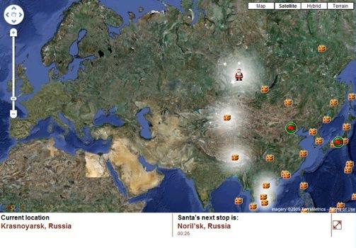 norad track santa on google maps