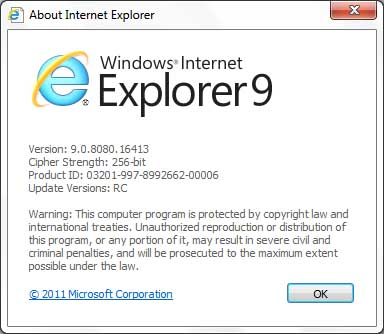 IE9 RC update