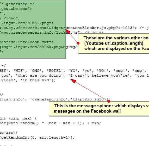 facebook youtube spam javascript