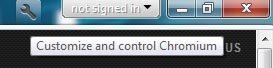 google chrome tools/settings menu