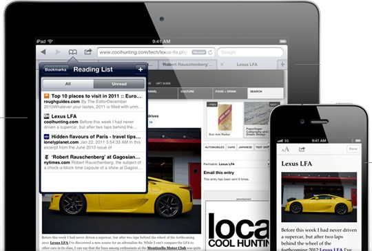 ios 5 features safari