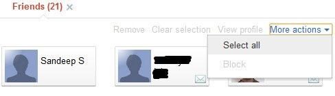 google+ circle select option
